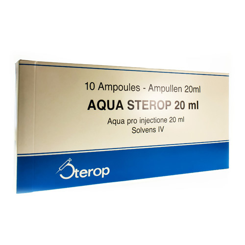 Aqua Sterop 20 Ml  10 Ampoules