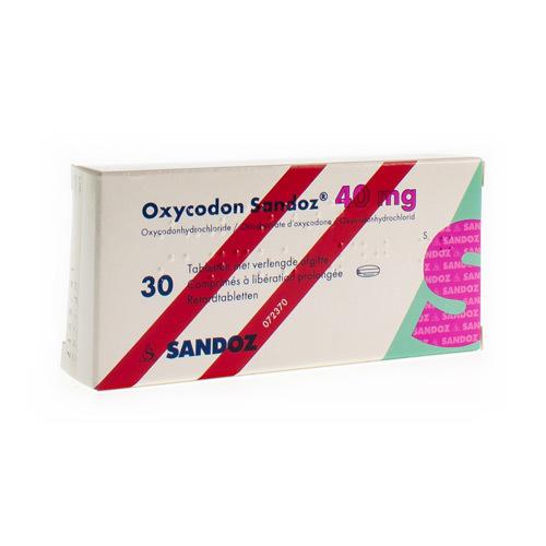 Oxycodon Sandoz 40 Mg (30 Comprimes)