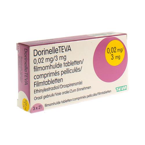 Dorinelle Teva 0,02 Mg / 3 Mg  3 X 21 Comprimes