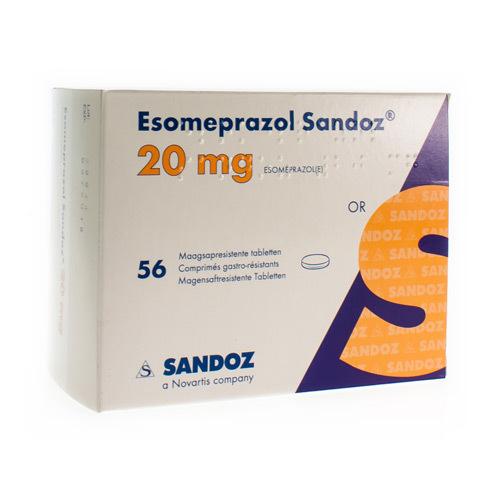 Esomeprazole Sandoz 20 Mg (56 Comprimes)