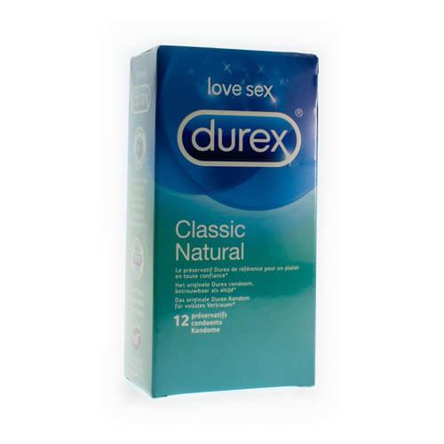 Durex Classic Condoms  12 Pieces