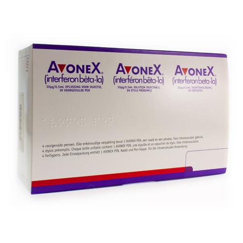 Avonex 30 Mcg/0,5 Ml  4 Stylos Preremplis