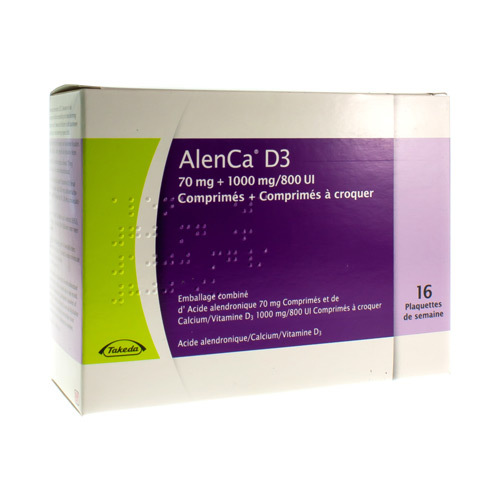 Alenca D3 70 Mg / 1000 Mg/800 Ie  16 Semaines