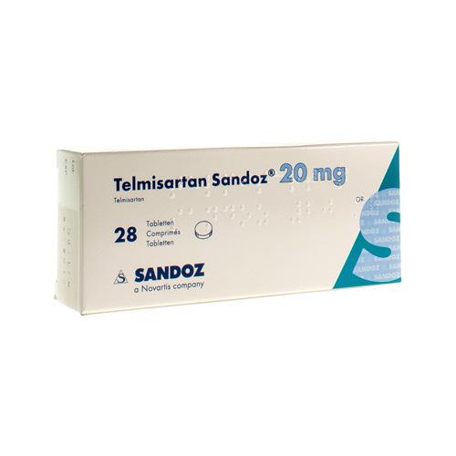 Telmisartan Sandoz 20 Mg (28 Comprimes)