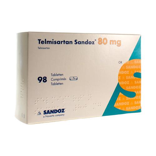 Telmisartan Sandoz 80 Mg (98 Comprimes)
