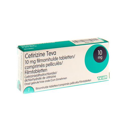 Cetirizine Teva 10 Mg  7 Comprimes