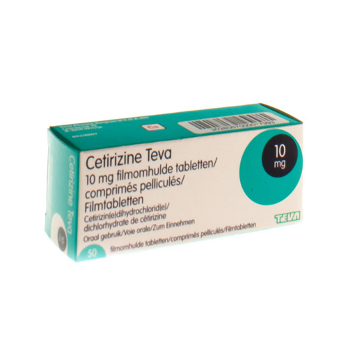 Cetirizine Teva 10 Mg  50 Comprimes