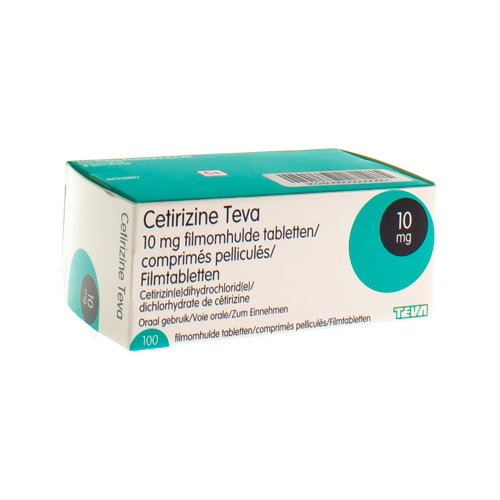 Cetirizine Teva 10 Mg  100 Comprimes