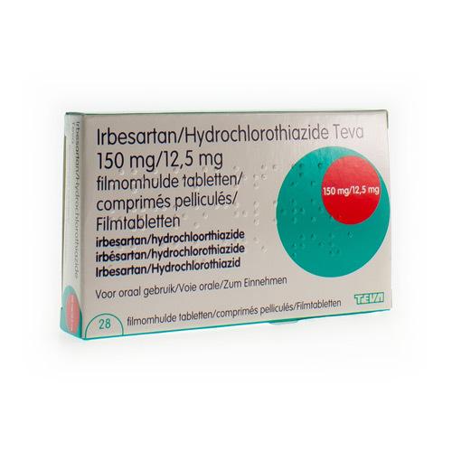 Irbesartan/Hydrochlorothiazide Teva 150 Mg / 12,5 Mg (28 Comprimes)