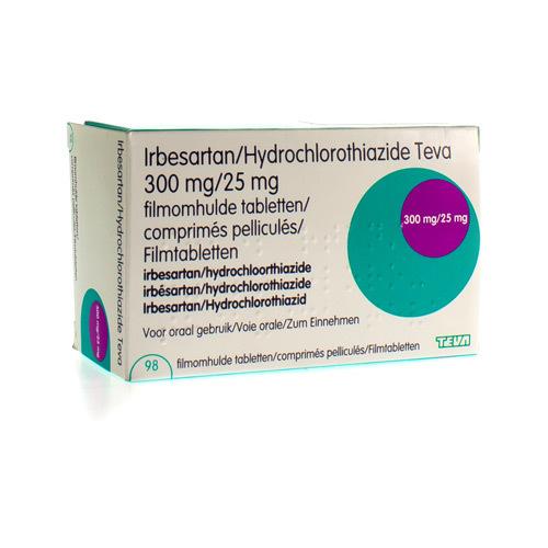 Irbesartan/Hydrochlorothiazide Teva 300 Mg / 25 Mg (98 Comprimes)