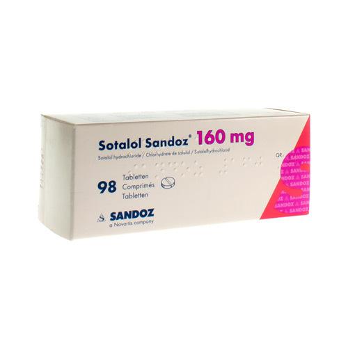 Sotalol Sandoz 160 Mg (98 Comprimes)