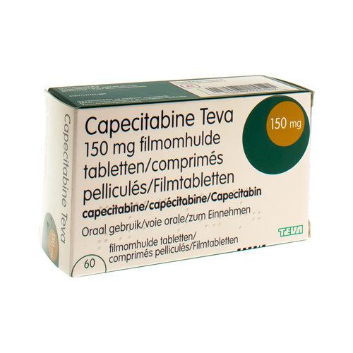 Capecitabine Teva 150 Mg  60 Comprimes