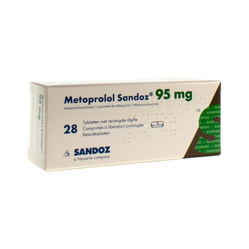 Metoprolol Sandoz 95 Mg (28 Comprimes)