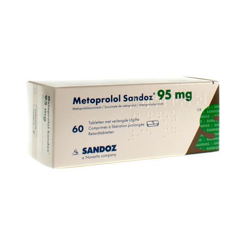 Metoprolol Sandoz 95 Mg (60 Comprimes)