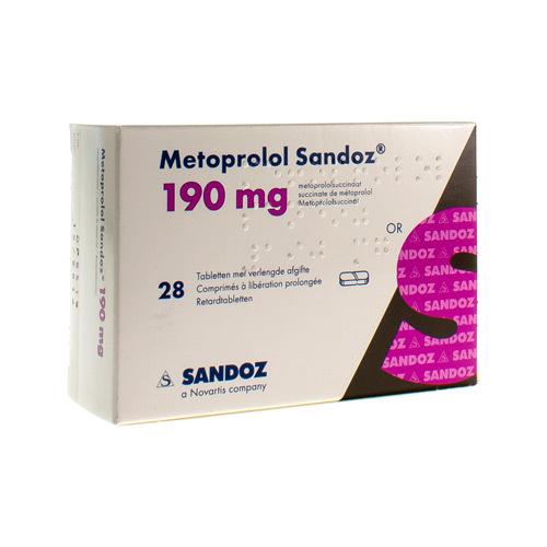 Metoprolol Sandoz 190 Mg (28 Comprimes)