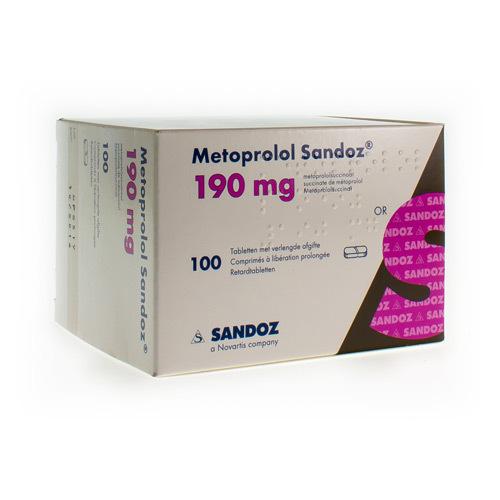Metoprolol Sandoz 190 Mg (100 Comprimes)