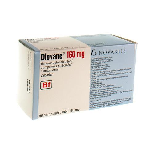 Diovane Pi Pharma 160 Mg  98 Comprimes