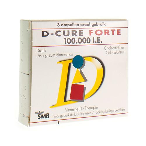 D-Cure Forte 100.000 Ie  3 Ampullen