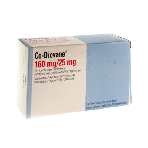 Co-Diovane Pi Pharma 160 Mg / 25 Mg  98 Comprimes