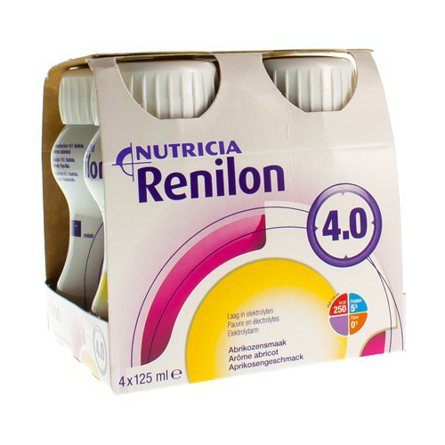 Renilon 4.0 Abricot (4 X 125 Ml)