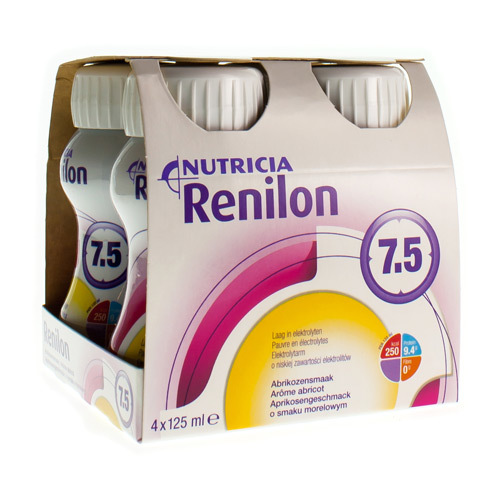 Renilon 7.5 Abricot (4 X 125 Ml)