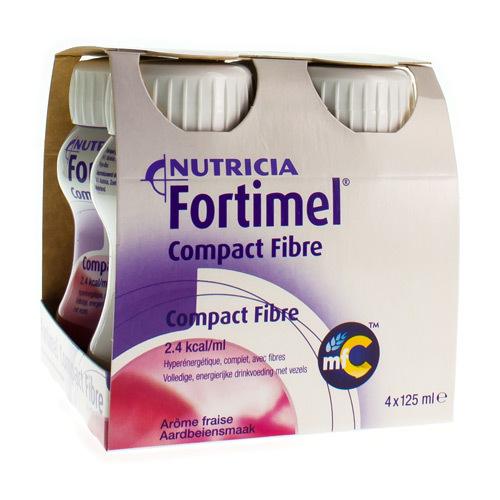 Fortimel Compact Fibre Fraise (4 X 125 Ml)