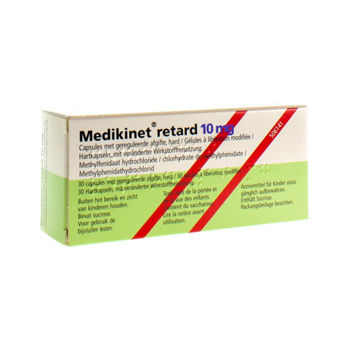 Medikinet Retard 10 Mg (30 Gelules)