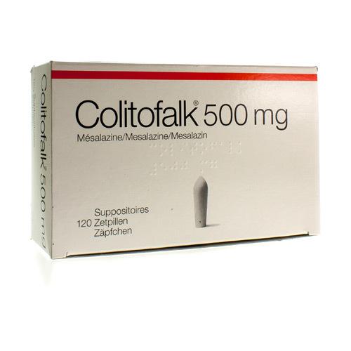 Colitofalk 500 Mg  120 Suppositoires