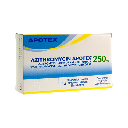 Azithromycine Apotex 250 Mg  12 Comprimes