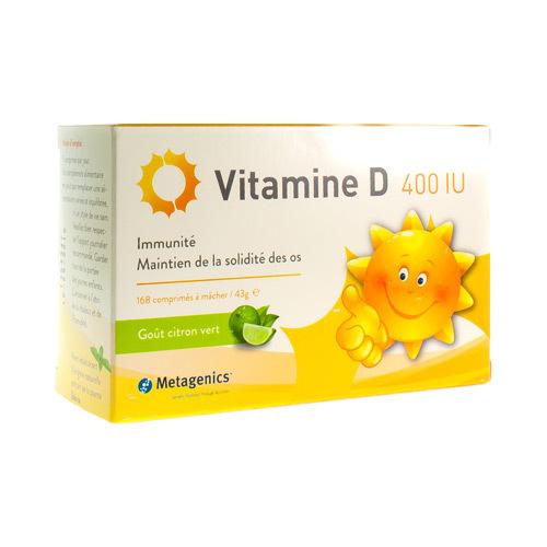 Vitamine D 400 Iu (168 Comprimes)