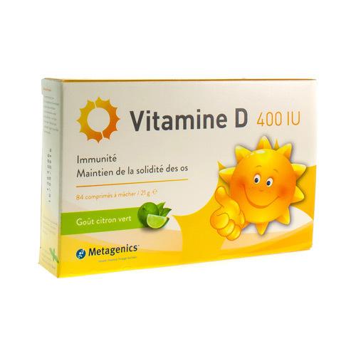 Vitamine D 400 Iu (84 Comprimes)