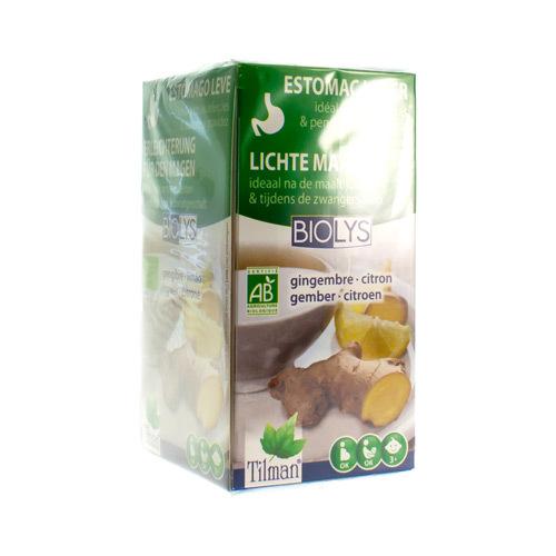 Biolys Gember Citroen Bio  20 Tea-Bags