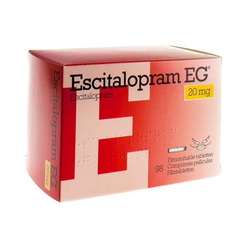 Escitalopram EG 20 Mg (98 Comprimes)