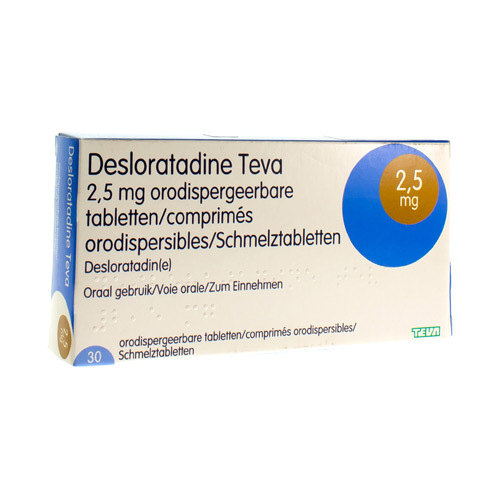 Desloratadine Teva 2,5 mg Comp Orodisp 30 X 2,5 mg