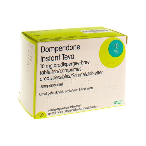 Domperidone Instant Teva 10 Mg  100 Comprimes Orodispersibles