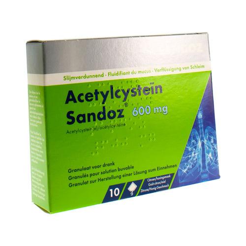 Acetylcysteine Sandoz 600 Mg  10 Zakjes
