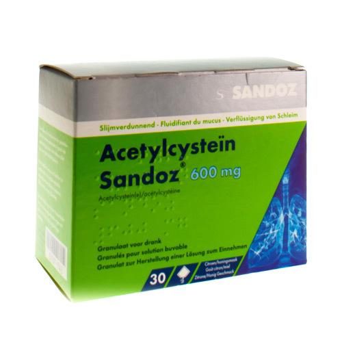 Acetylcysteïn Sandoz 600 Mg  30 Sachets
