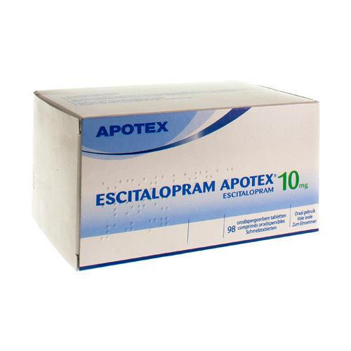 Escitalopram Apotex 10 Mg (98 Comprimes Orodispersibles)