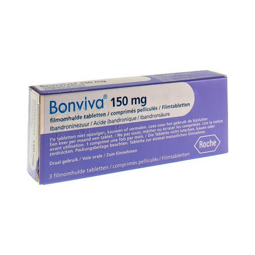 Bonviva Pi Pharma 150 Mg  3 Comprimes