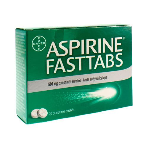 Aspirine Fasttabs 500 Mg  20 Comprimes