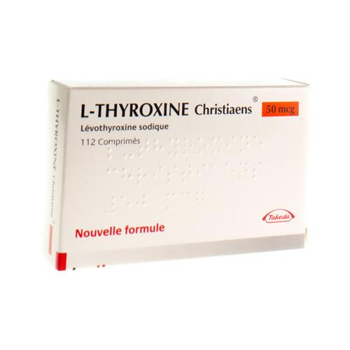 L-Thyroxine Christiaens 50 Mcg (112 Comprimes)