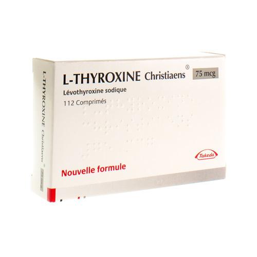 L-Thyroxine Christiaens 75 Mcg (112 Comprimes)
