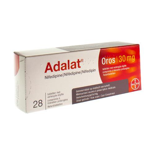 Adalat Oros 30 Mg  28 Comprimes