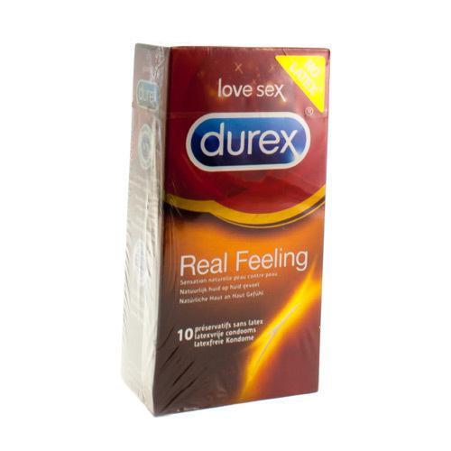 Durex Real Feeling Condoms  10 Pieces