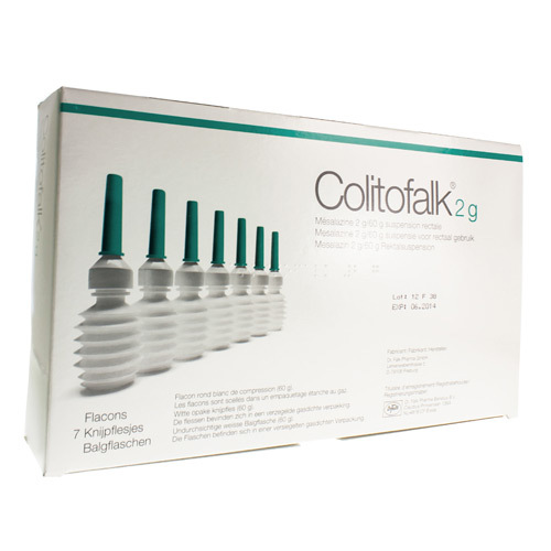 Colitofalk Clysma 2 G  7 Flacons Propulseurs