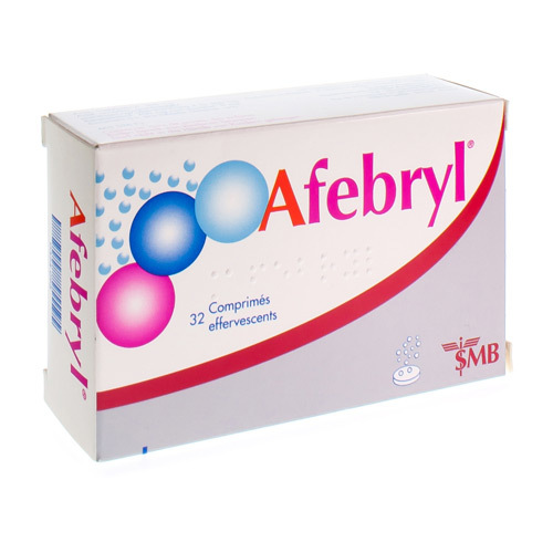 Afebryl 300 Mg / 300 Mg / 200 Mg  32 Comprimes Effervescents