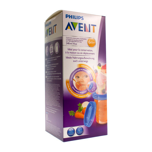 Avent Via Natural Pot De Conserv  240 Ml