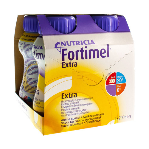 Fortimel Extra Abrikoos (4 X 200 Ml)