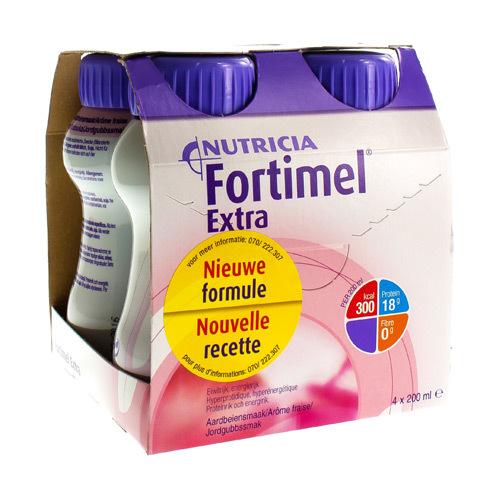 Fortimel Extra Aardbei (4 X 200 Ml)