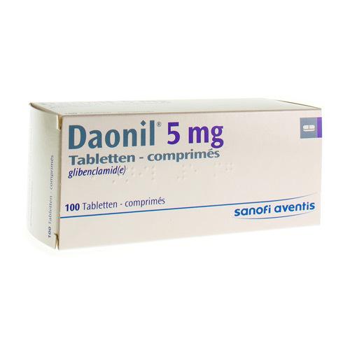 Daonil 5 Mg  100 Comprimes